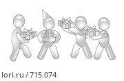 Концепция праздника. Стоковая иллюстрация, иллюстратор Олеся Сарычева / Фотобанк Лори