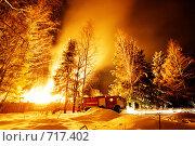 Купить «Пожар», фото № 717402, снято 2 февраля 2009 г. (c) Фурсов Алексей / Фотобанк Лори
