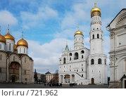 Купить «Соборная площадь, Московский Кремль», фото № 721962, снято 25 февраля 2009 г. (c) Криволап Ольга / Фотобанк Лори