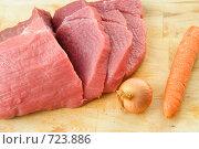 Купить «Приготовление мяса», фото № 723886, снято 22 февраля 2009 г. (c) Александр Чистяков / Фотобанк Лори