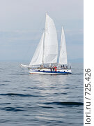 Купить «Красивая яхта плывущая по Байкалу», фото № 725426, снято 3 августа 2008 г. (c) Александр Подшивалов / Фотобанк Лори