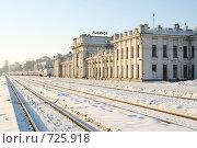 Купить «Ожидающий Рыбинский вокзал», фото № 725918, снято 21 февраля 2009 г. (c) Антон Корнилов / Фотобанк Лори