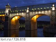 Купить «Фрагмент Андреевского пешеходного моста через реку Москву», фото № 726818, снято 16 марта 2007 г. (c) Сергей Пономарев / Фотобанк Лори