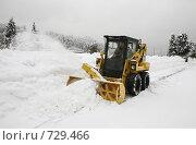 Купить «Снегоуборочная машина в действии», фото № 729466, снято 31 января 2009 г. (c) Наталья Волкова / Фотобанк Лори