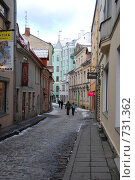 Купить «Улица старого Таллина. Эстония», фото № 731362, снято 28 февраля 2009 г. (c) Екатерина Овсянникова / Фотобанк Лори