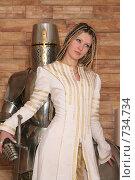 Купить «Девушка в рыцарском замке», фото № 734734, снято 8 февраля 2009 г. (c) Евгений Батраков / Фотобанк Лори