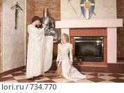 Купить «Девушки в рыцарском замке», фото № 734770, снято 8 февраля 2009 г. (c) Евгений Батраков / Фотобанк Лори