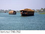Купить «Лодка-дом в Индии, Керала», фото № 740702, снято 13 января 2009 г. (c) Гараев Александр / Фотобанк Лори