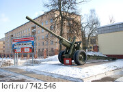 Тула. Артиллерийский институт, артиллерийская орудие (2009 год). Редакционное фото, фотограф Владимир / Фотобанк Лори