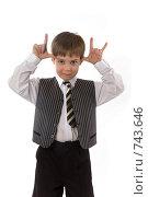 Ребенок кривляется. Стоковое фото, фотограф Алексей Ведерников / Фотобанк Лори