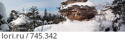"""Купить «Скалы """"Каменный город""""», фото № 745342, снято 21 мая 2018 г. (c) Павел Спирин / Фотобанк Лори"""