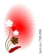 Купить «Дизайн открытки в красных тонах», иллюстрация № 745950 (c) Алексей Лебедев-Реллер / Фотобанк Лори