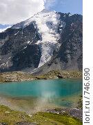 Купить «Озеро в горах. Вид на Ак-Аюк из долины Семи озер, Алтай, Россия», фото № 746690, снято 22 июля 2008 г. (c) Max Toporsky / Фотобанк Лори