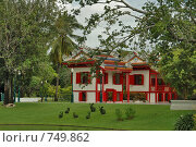 Купить «Королевский дворец Bang Pa-In Palace. Резиденция Phra Thinang. Таиланд», фото № 749862, снято 11 октября 2007 г. (c) Ирина Доронина / Фотобанк Лори