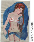 Купить «Обнаженная», иллюстрация № 752218 (c) Ольга Лерх Olga Lerkh / Фотобанк Лори