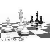 Купить «Шахматная концепция - оппозиция, противостояние», иллюстрация № 754626 (c) Михаил Белков / Фотобанк Лори