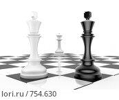 Купить «Шахматная концепция - конкуренция», иллюстрация № 754630 (c) Михаил Белков / Фотобанк Лори