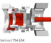 Купить «Абстрактный механизм в разрезе», иллюстрация № 754634 (c) Михаил Белков / Фотобанк Лори