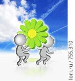 Купить «Виртуальное общение», иллюстрация № 755310 (c) Анна Боровикова / Фотобанк Лори