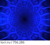 Купить «Синяя паутина. Абстрактный фон», фото № 756286, снято 25 марта 2019 г. (c) Denis Kh. / Фотобанк Лори
