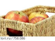 Купить «Яблоки в корзине», фото № 758086, снято 29 февраля 2008 г. (c) Алина Акимова / Фотобанк Лори