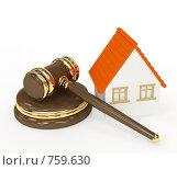 Купить «Аукционный молоток и домик», иллюстрация № 759630 (c) Лукиянова Наталья / Фотобанк Лори