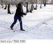Купить «Лыжница», фото № 760190, снято 23 февраля 2009 г. (c) Алексей Стоянов / Фотобанк Лори
