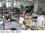 Купить «Цех швейной фабрики», фото № 761874, снято 22 января 2009 г. (c) Анна Игонина / Фотобанк Лори