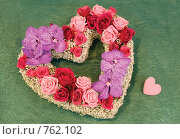 Купить «Цветочное сердце», фото № 762102, снято 13 февраля 2009 г. (c) Ольга Харламова / Фотобанк Лори