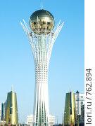 Байтерек - символ новой столицы (2009 год). Редакционное фото, фотограф Григорий Дашкин / Фотобанк Лори
