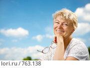 Купить «Пожилая женщина», фото № 763138, снято 15 июля 2008 г. (c) Raev Denis / Фотобанк Лори