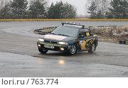 Купить «Спортивная машина на треке», фото № 763774, снято 25 февраля 2009 г. (c) Никончук Алексей / Фотобанк Лори