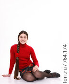 Купить «Портрет девочки», фото № 764174, снято 3 марта 2009 г. (c) Юрий Викулин / Фотобанк Лори