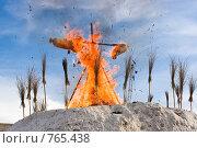 Купить «Сжигание чучела Масленицы», фото № 765438, снято 1 марта 2009 г. (c) FotograFF / Фотобанк Лори