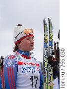 Купить «Лыжный спорт. Светлана Нагейкина дает интервью на финише Дёминского марафона. Дёмино. Рыбинск.», фото № 766030, снято 22 марта 2009 г. (c) Дмитрий Земсков / Фотобанк Лори
