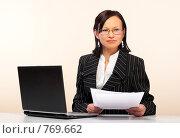 Купить «Женщина с ноутбуком», фото № 769662, снято 25 февраля 2009 г. (c) Николай Туркин / Фотобанк Лори