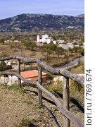 Горный пейзаж Крита (малая глубина резкости) (2007 год). Стоковое фото, фотограф Ирина Рубанова / Фотобанк Лори