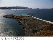 Купить «Вид на стройку моста на о. Русский (Владивосток)», фото № 772366, снято 15 марта 2009 г. (c) Елена Климовская / Фотобанк Лори