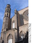 Купить «Собор Santa Maria del Mar в Барселоне», фото № 773762, снято 10 марта 2009 г. (c) Брыков Дмитрий / Фотобанк Лори