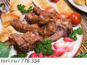 Купить «Бараньи ребрышки в томатном соусе с чесноком», фото № 778334, снято 14 октября 2007 г. (c) Елена А / Фотобанк Лори