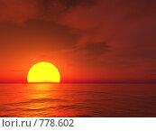 Купить «Закат над морем», иллюстрация № 778602 (c) Losevsky Pavel / Фотобанк Лори