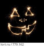 Купить «Символ хеллоуина из искр», фото № 779162, снято 20 сентября 2018 г. (c) Losevsky Pavel / Фотобанк Лори