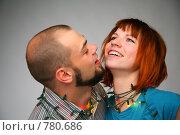 Купить «Влюбленная пара, обмотанная новогодней гирляндой», фото № 780686, снято 18 июля 2019 г. (c) Losevsky Pavel / Фотобанк Лори