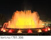 Купить «Фонтан перед Национальным Дворцом Каталонии. Барселона», фото № 781306, снято 4 сентября 2008 г. (c) Vitas / Фотобанк Лори