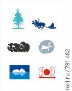 Северные мотивы. Стоковая иллюстрация, иллюстратор Елена Хоткина / Фотобанк Лори