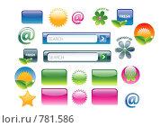 Веб 2.0, иконки для сайта. Стоковая иллюстрация, иллюстратор Майя Мишина / Фотобанк Лори