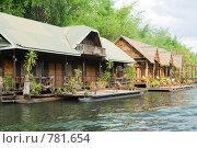 Хижины на реке Квай, Тайланд (2006 год). Стоковое фото, фотограф Здоров Кирилл / Фотобанк Лори