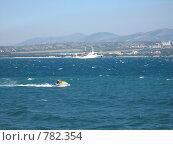 Купить «Скутер на Черном море», фото № 782354, снято 31 июля 2005 г. (c) Сергей Яковлев / Фотобанк Лори