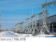 Якутская ГРЭС. Линейные сооружения. (2009 год). Редакционное фото, фотограф Юрий Бульший / Фотобанк Лори