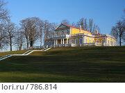 Стрельна. Вид на путевой дворец Петра I (2008 год). Редакционное фото, фотограф Литвяк Игорь / Фотобанк Лори